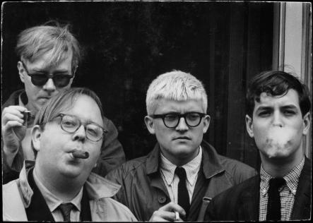 Warhol, Geldzahler, Hockney & Goodman