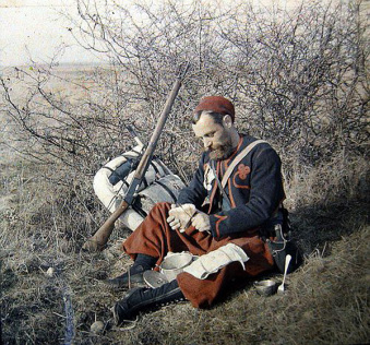 a Zouave soldier