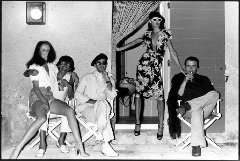 Grace Coddington, Helmut Newton, Manolo Blahnik, Anjelica Huston and David Bailey